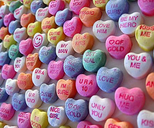 candy, heart, and hearts image