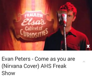 coven, evan peters, and freak show image