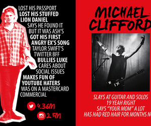 5sos, michael clifford, and mikey image