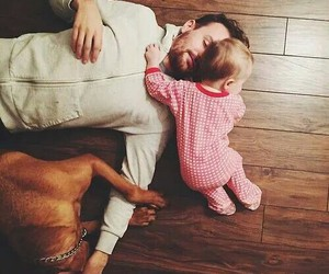 baby, cute, and family image