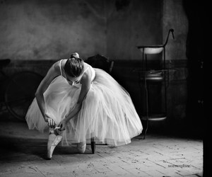 b & w, ballerina, and ballet image