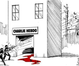 islam, terrorism, and charle hebo image