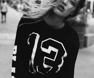 black and white, grunge, and hipster image