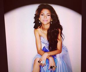 blue, dress, and zendaya image