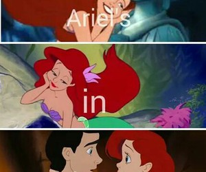ariel, in love, and princess image
