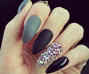 nails, black, and amazing image