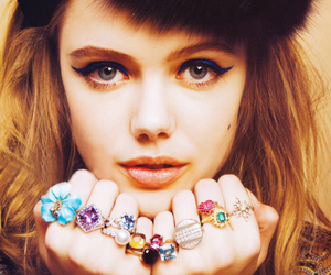 girl, rings, and model image