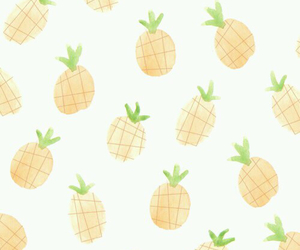 wallpaper, pineapple, and fruit image
