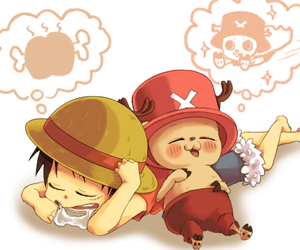one piece, luffy, and chopper image