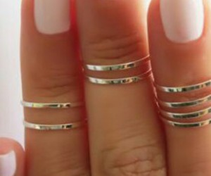 delicate, girly, and rings image