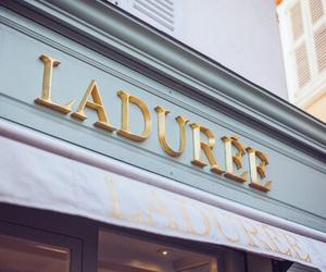 laduree, macaroons, and shop image