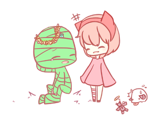 annie, pink, and verde image