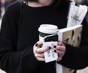 coffee, black, and fashion image