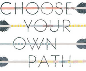 path, quote, and arrow image