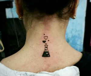 tattoo, love, and quimica image