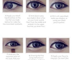 anime, black, and eyes image
