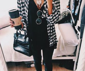 bag, chemise, and coffee image