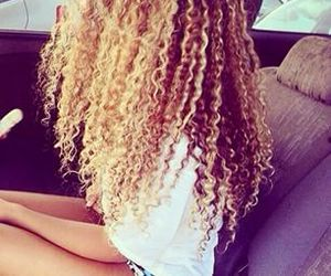 Afro, long hair, and love image