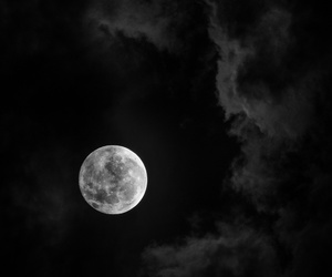 moon, clouds, and Darkness image