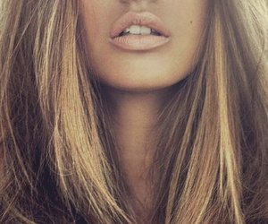 girl, lips, and hair image