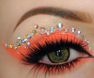 orange, eyes, and makeup image