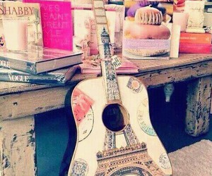 guitar, paris, and music image