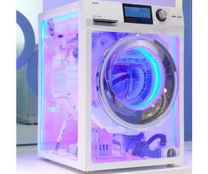 neon, washing machine, and grunge image