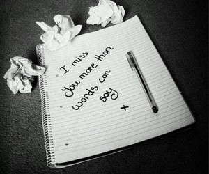 i miss you, miss, and words image