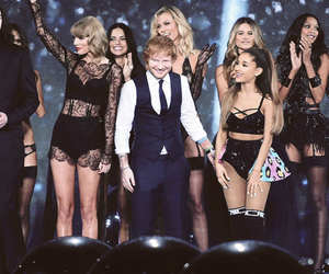ariana grande, Taylor Swift, and ed sheeran image