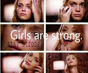 girl, strong, and teen wolf image