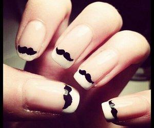 nails, nail art, and mustache image