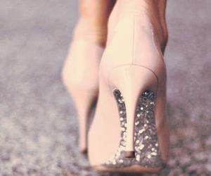 diamond, diamonds, and pink high heels image