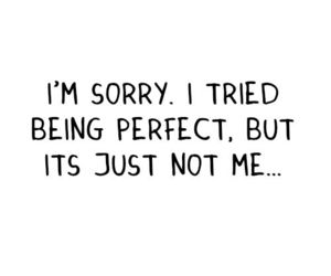 sorry, perfect, and quote image