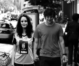 black and white, couple, and skins image