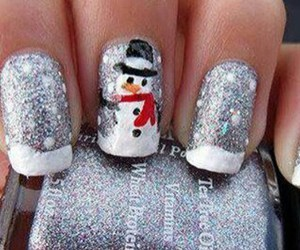 fashion, nails, and snow image