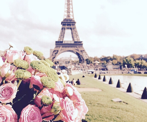 paris, flowers, and roses image