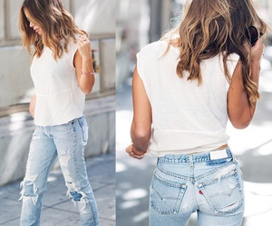 jeans, style, and hair image