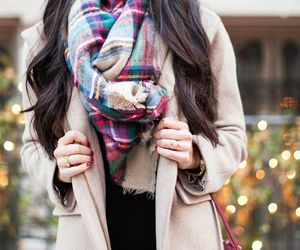 fashion, scarf, and coat image