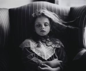 black and white, sally mann, and child image