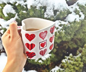 heart, snow, and inspired image