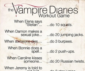 workout, the vampire diaries, and tvd image