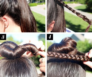 hair, brown, and cool image