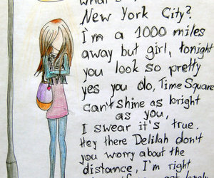 hey there delilah, Lyrics, and song image