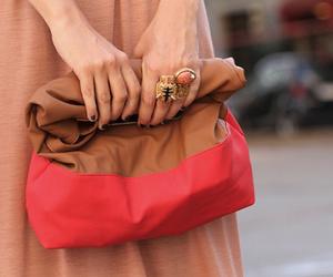fashion, bag, and rings image