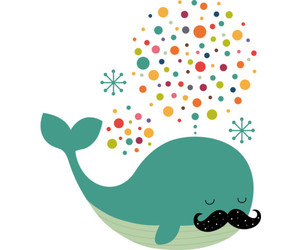 mustache and whale image
