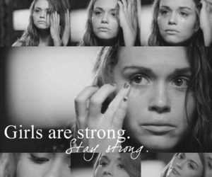 girl, strong, and sad image
