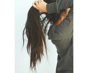 hair, brunette, and girl image