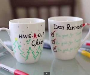 christmas, diy, and mug image
