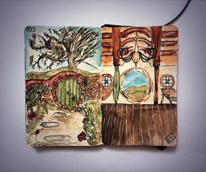 drawing, moleskine, and sketchbook image