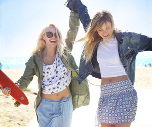 girlfriends, blonde, and friendship image